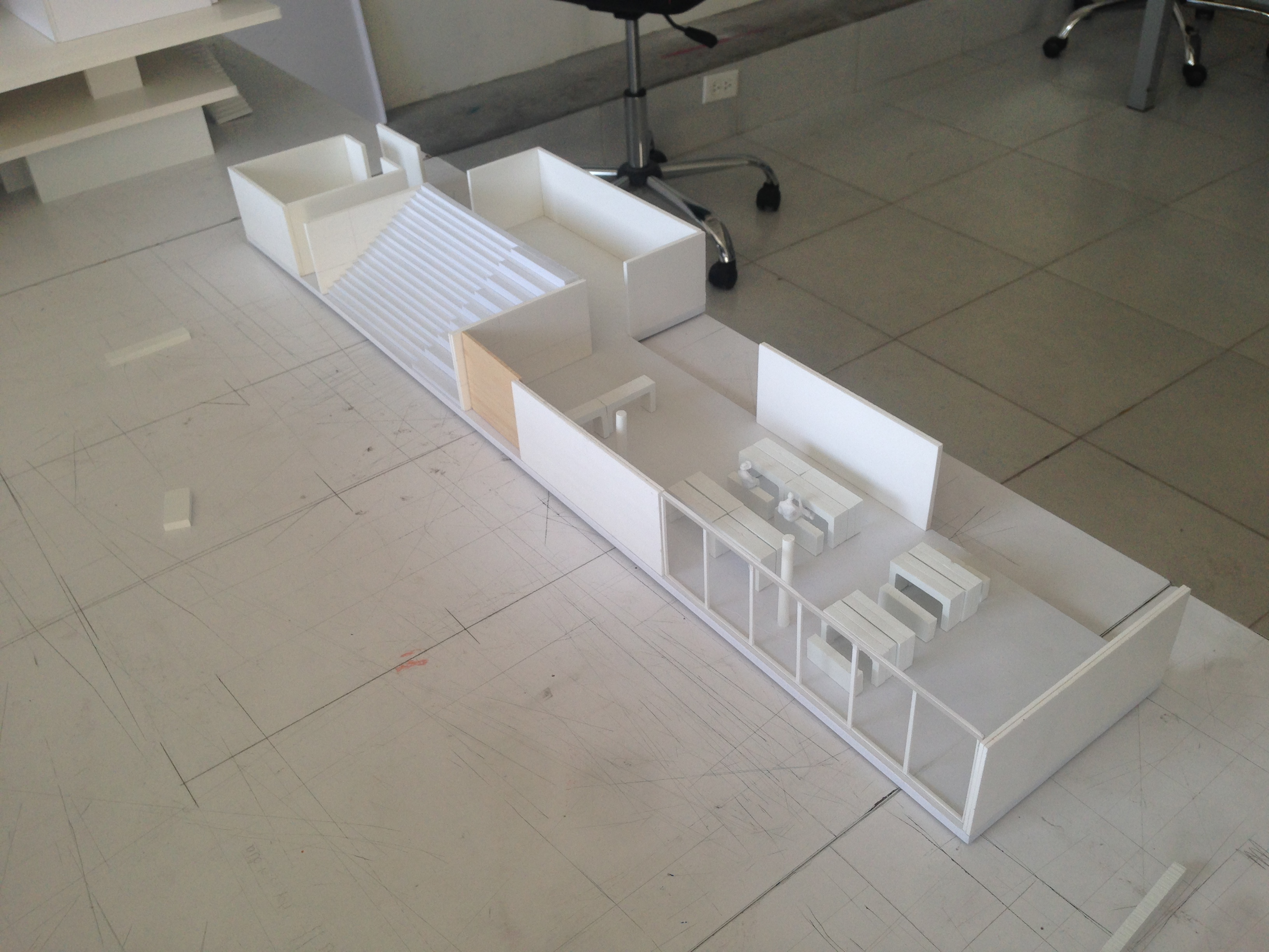 Model - Space and furniture study.
