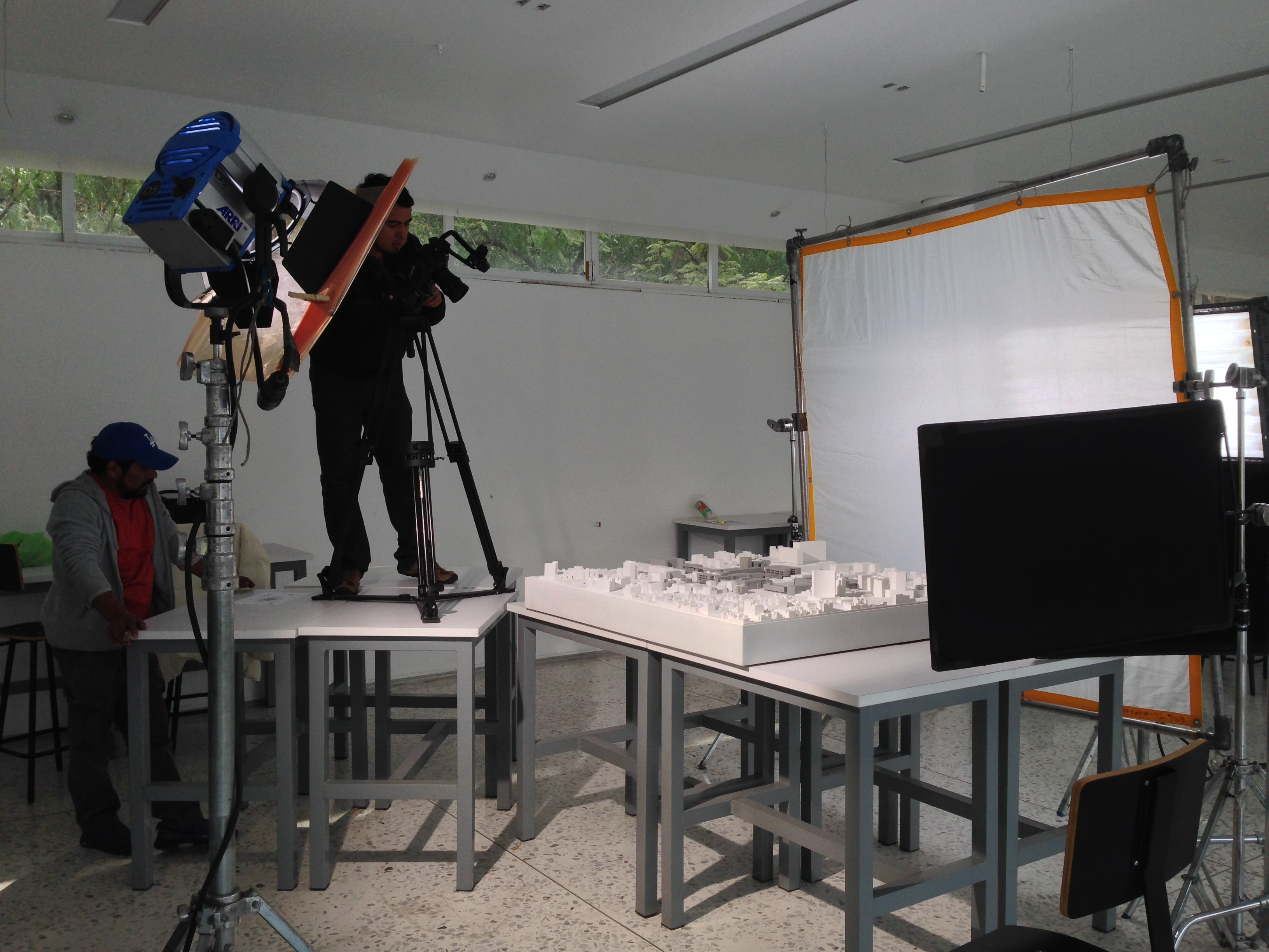 Model recording for video.