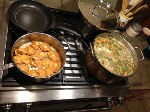 Make a broth, stuff it with veggies