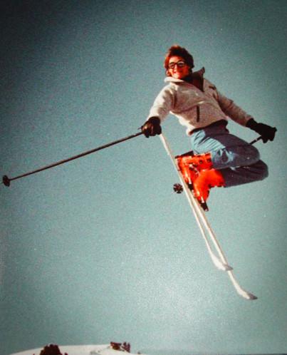 Erik Lindbergh backscratcher ski jump. Photo by Eric Dyer
