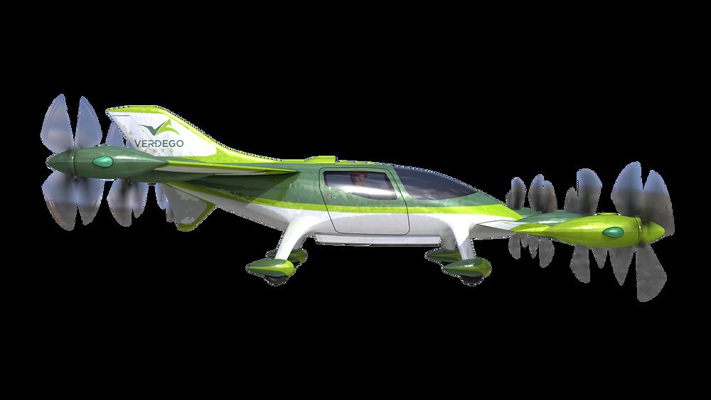 eVTOL Personal Air Taxi horizontal flight mode