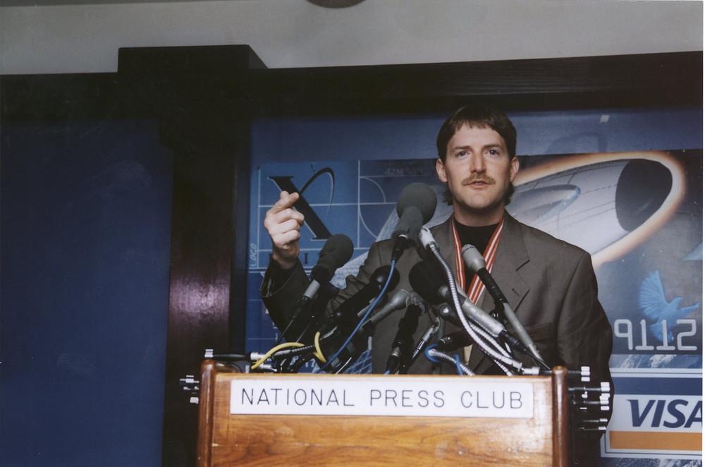 Erik Lindbergh XPRIZE speaking at the National Press Club