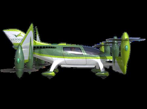 eVTOL Personal Air Taxi vertical flight mode