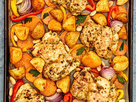 Roasted Lemon and Pepper Chicken with Veggies