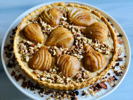 Ricotta and Poached Pear Tart