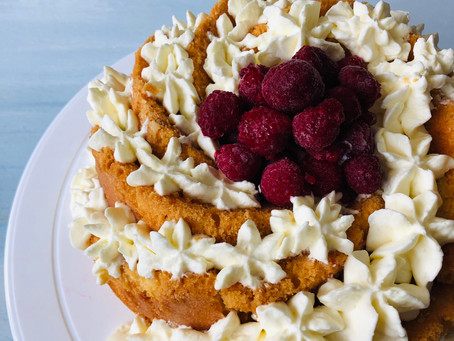 Berry, Lime and Coconut Cake