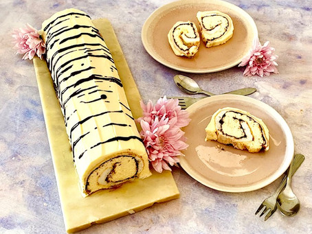 The most delectable Tigerrrr chocolate roulade