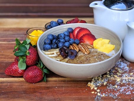 Quinoa, Oats and Chai Tea Breakfast