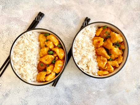 Baked Chinese style sweet and sour chicken