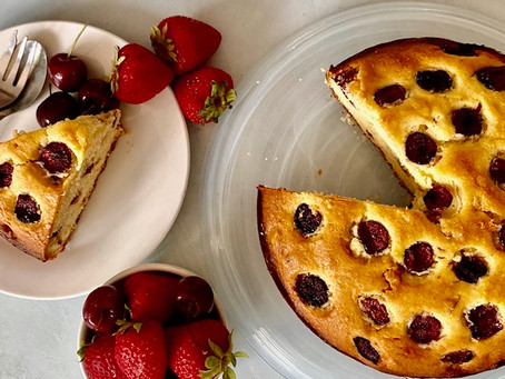 Cherry and Hazelnut cake