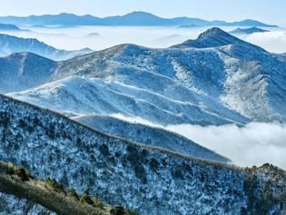 Deogyusan National Park from the Hyangjeok Peak