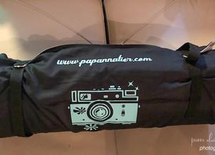 Transport d'un objectif 500mm avec boitier dans 1 sac à dos de randonnée