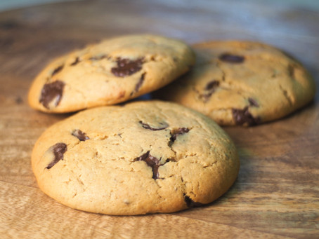 Make our famous plant-based Choc Chip Cookies at home!