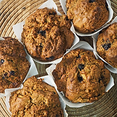 6 pack Freshly baked muffins