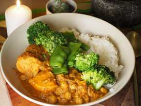 A delicious Buddha Curry in a few simple steps with Samadhi Whole Foods!
