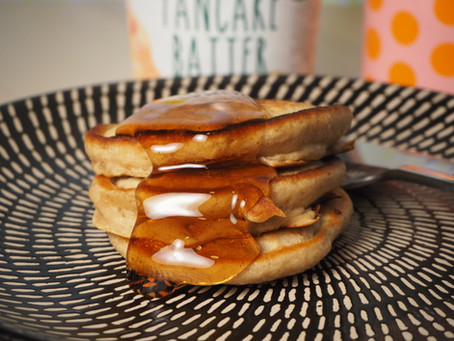 Use our delicious pancake batter to make an easy breakfast for the family