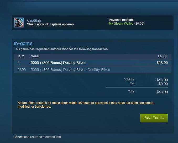 Destiny Silver -Purchasable on Steam