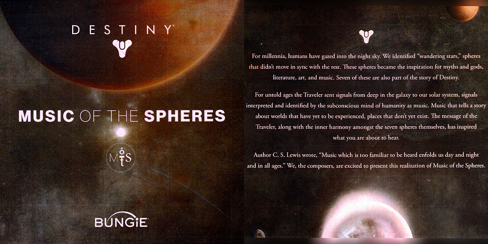 Artwork from the unreleased 'Music of the Spheres' CD