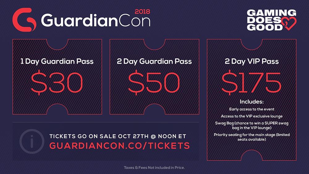 GuardianCon Pricing