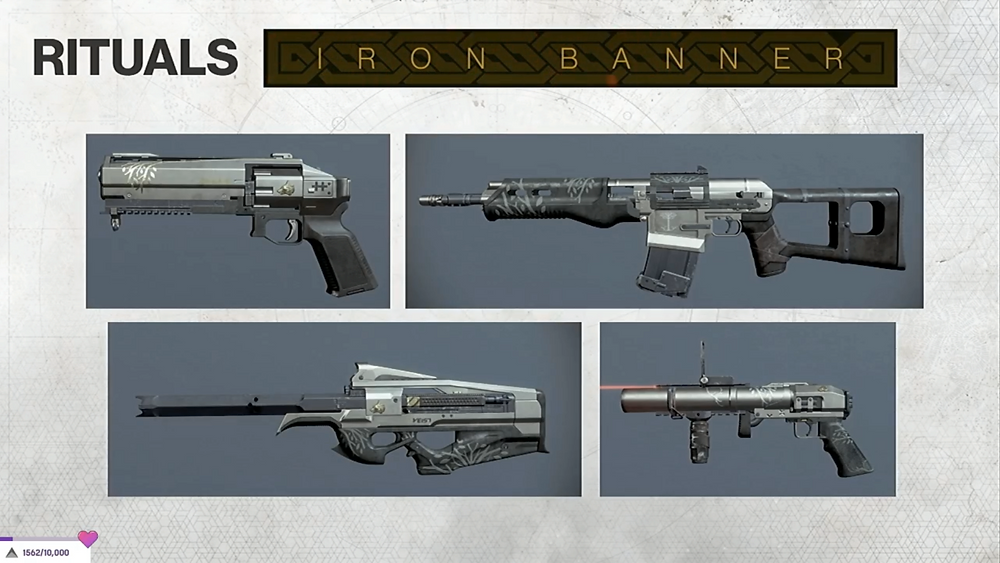 Iron Banner Weapons