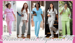 MorLuv Women's Antimicrobial Strike Through Resistant Scrubs