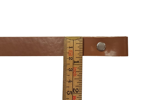 "3/4"" Brown Replacement Dowel Strap Sizes 10"" - 16"""