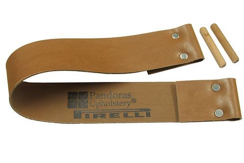"1.5"" Brown Replacement Dowel Strap Sizes 37"" - 46"""