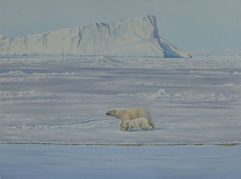 'The Promised Land' Polar Bear Mother and Cub