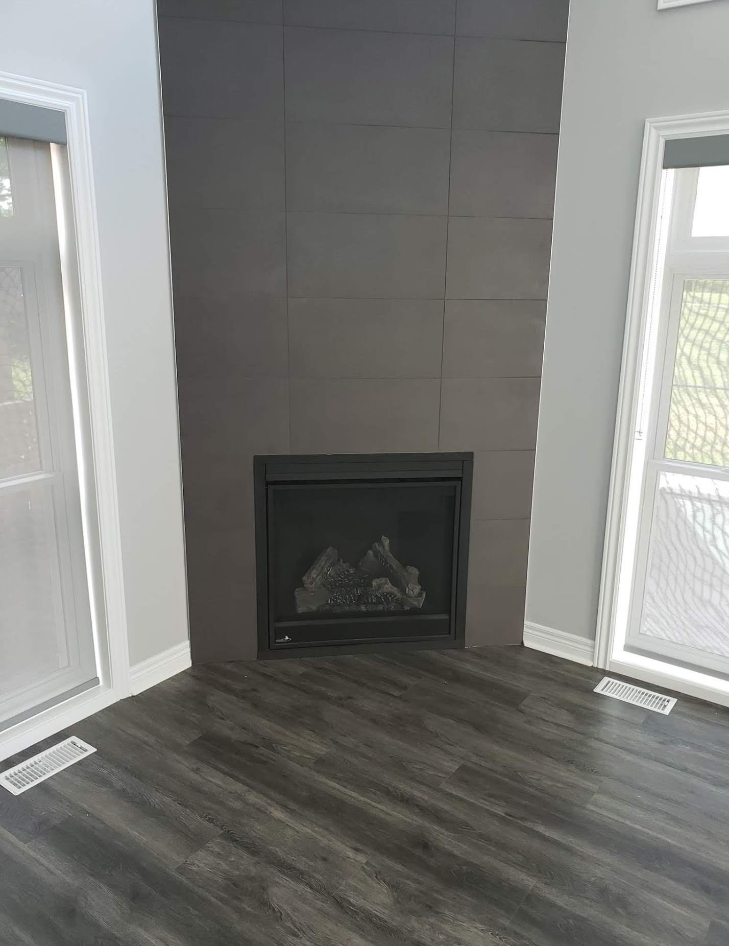 New Fireplace installed in a renovation