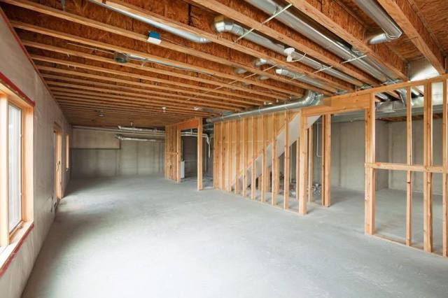 Basement Ductwork with minimal bulkheads