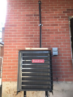 New air conditioner installation