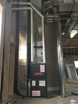 Hvac completed in a custom home in Scarborough