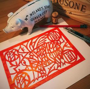 Paper Cut Art in Lettering