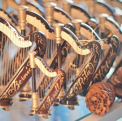 Christmas Harp Ornament Art