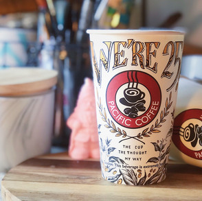 Art on Pacific Coffee Cup