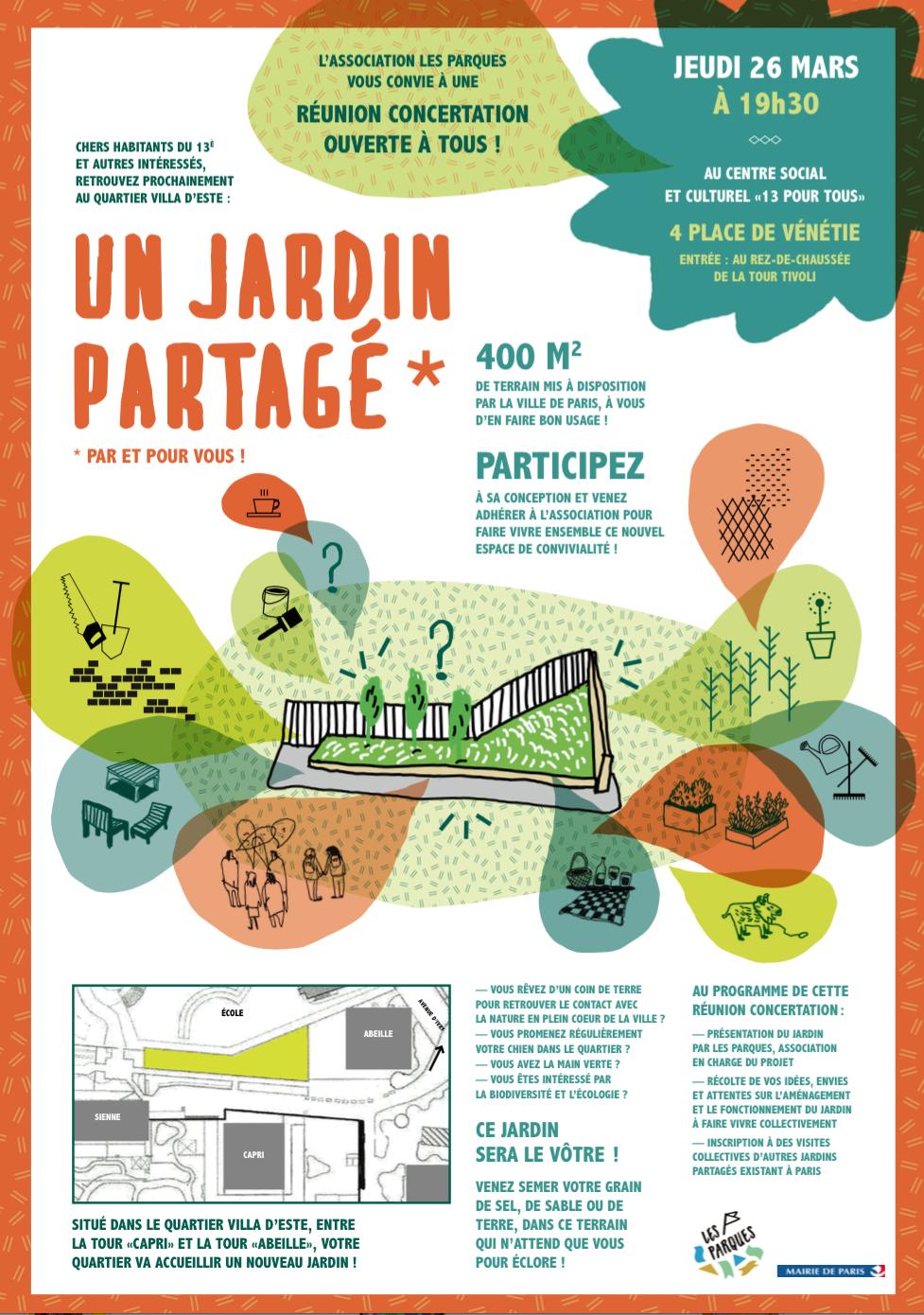 La création d'un jardin partagé - 2014