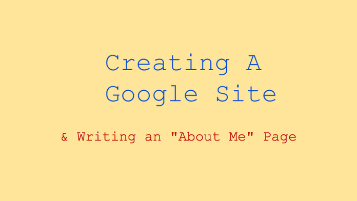 Publishing Student Work: Google Sites as Portfolios