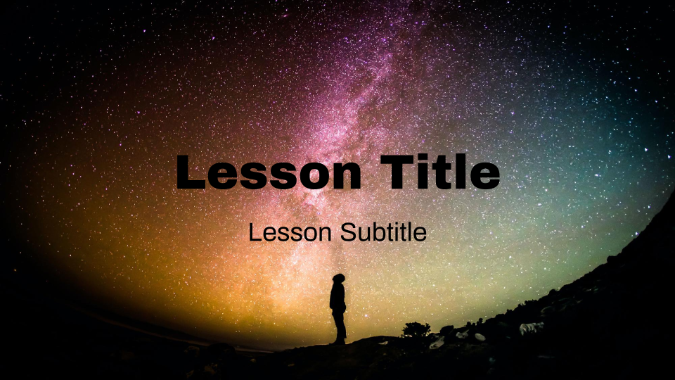 Galaxy Self-Paced Lesson Template