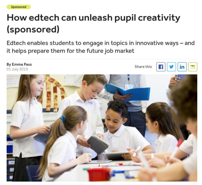 How EdTech Can Unleash Pupil Creativity