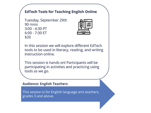 EdTech Tools for Teaching English Online