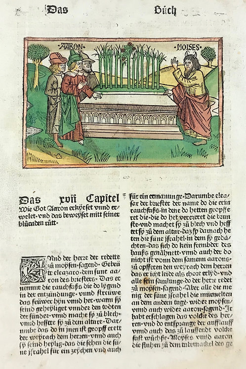 1487 Eleventh High German Bible - Numbers 17-18