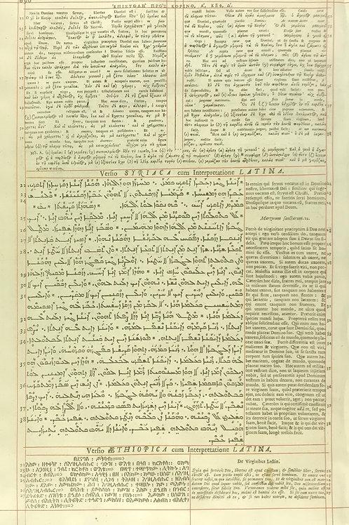 1657 London Polyglot Bible Leaf - 1 Corinthians 7 - Pages 695-696