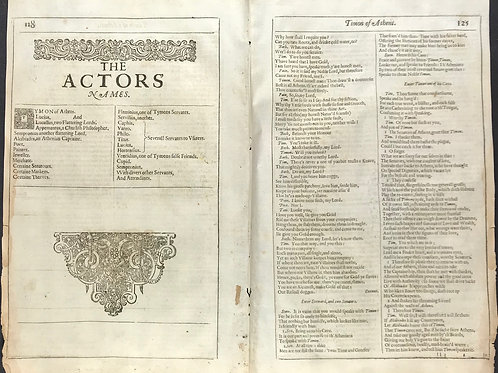 1632 Shakespeare Bifolia #9 - Tymon of Athens - Wealth maketh many friends...