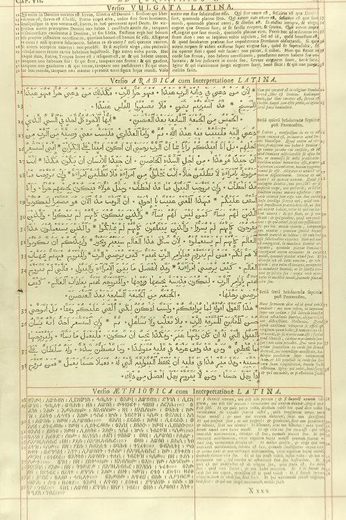 1657 London Polyglot Bible Leaf - 1 Corinthians 7 & 8 - Pages 697-698