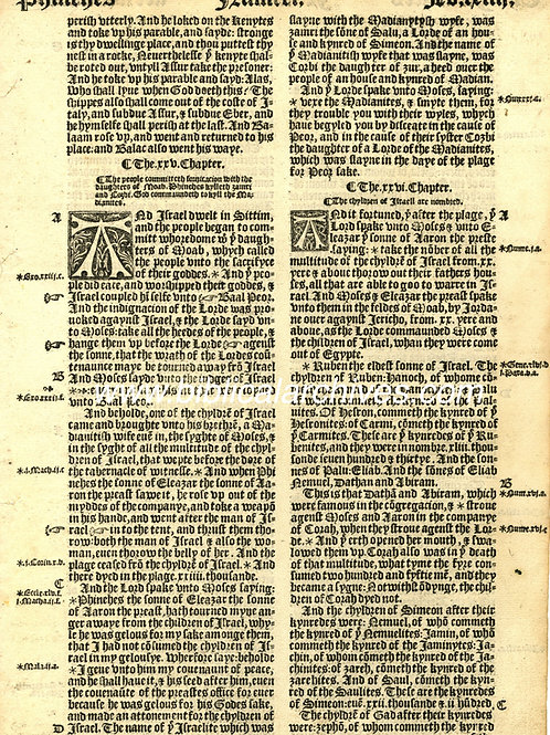 GREAT BIBLE - A 1539 FIRST EDITION DISPLAY LEAF