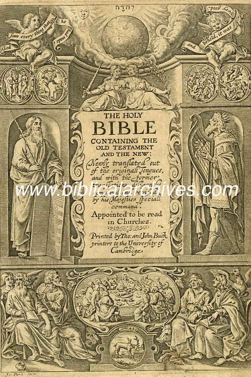 10 KING JAMES' BIBLE 1633 GIFT LEAVES