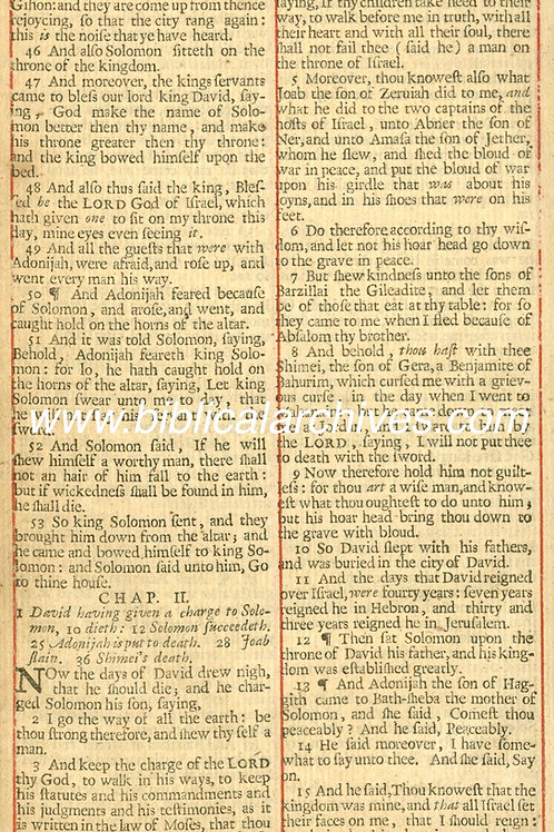 50 KING JAMES' BIBLE 1683 GIFT LEAVES