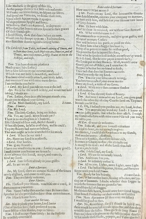 1632 Shakespeare Leaf #3 - Tymon of Athens - Wealth maketh many friends...