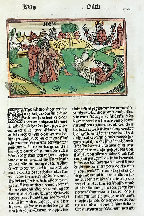 1487 Eleventh High German Bible - Numbers 15 & 16