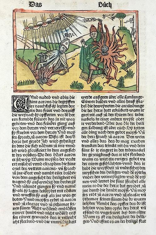 1487 Eleventh High German Bible - Lev. 10